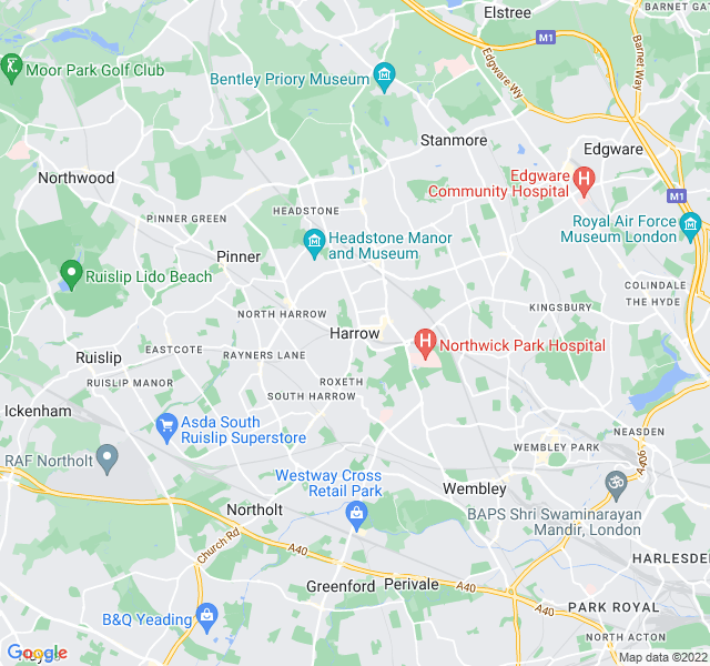 Website Designer Harrow Google map of location