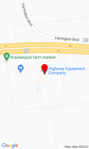 Google Map of Harter Equipment, Inc. 615 State Route 33, Millstone Twp, NJ, 08535