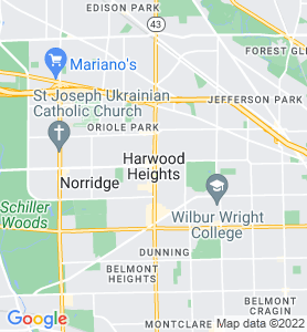 Harwood Heights IL Map