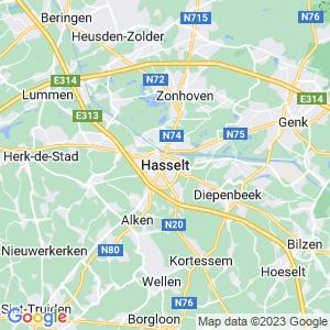 Werkgebied van onze bestrijder in Hasselt