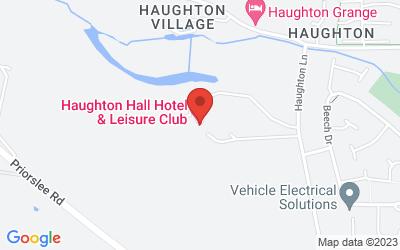 Map of Haughton Hall Hotel & Leisure Club, Haughton Lane, Shifnal, UK