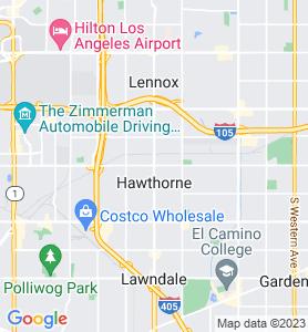 Hawthorne CA Map