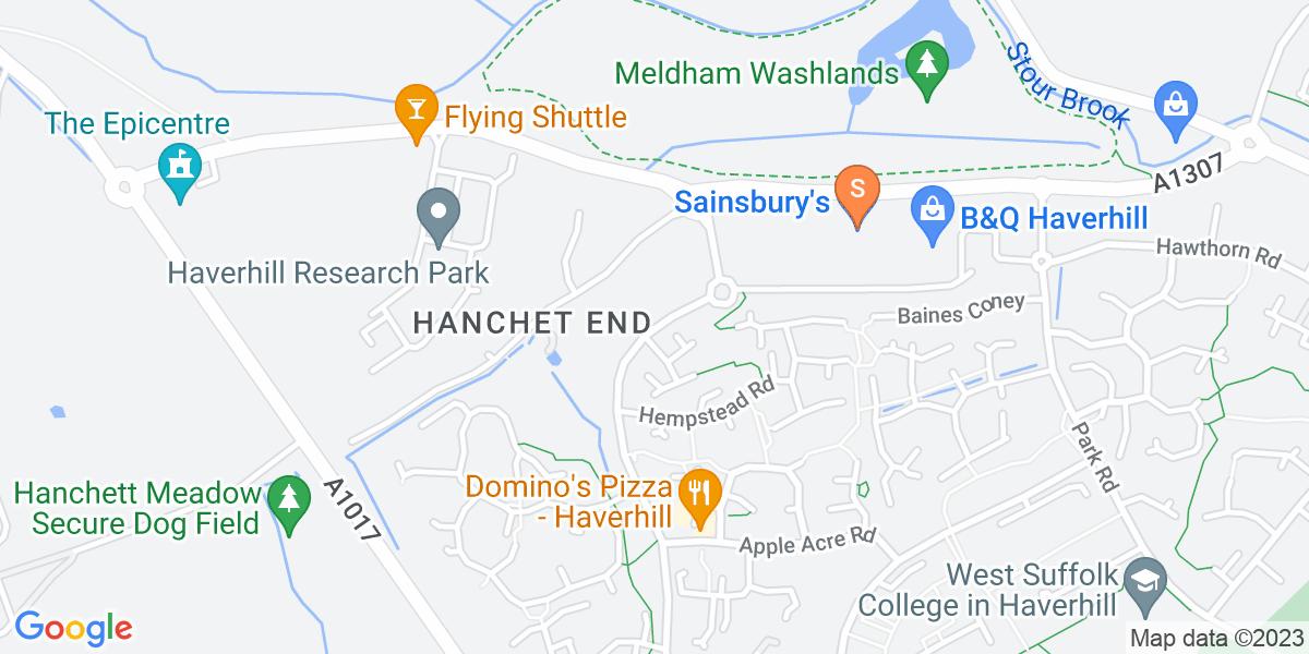 Google Map of Haycocks Road Haverhill CB9 7YL