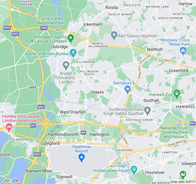 Website Designer Hayes Google map of location
