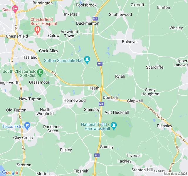 Website Designer Heath Google map of location