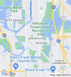Hegewisch IL Map