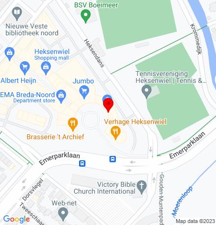 Google Map of Heksenwaag 40 4823 JV Breda