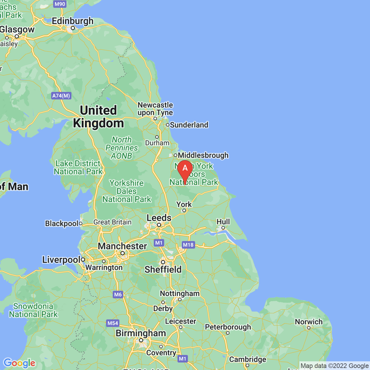 Helmsley, England Map