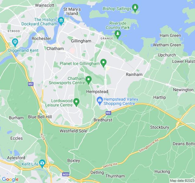 Website Designer Hempstead Google map of location