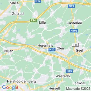 Werkgebied van onze bestrijder in Herentals