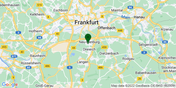 Google Map of Hermannstraße 32, Neu-Isenburg