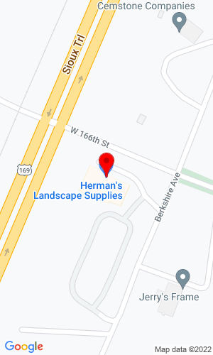Google Map of Hermans Landscape Supplies 16586 Johnson Memorial Drive, Jordan, MN, 55352