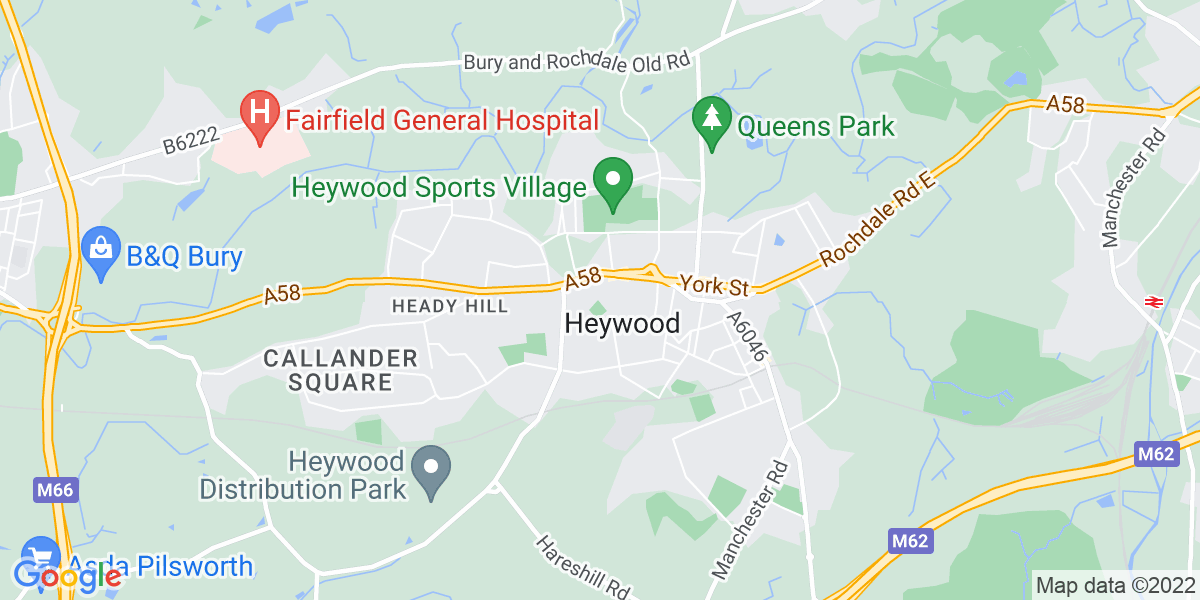 Map: Care Assistant job role in Heywood