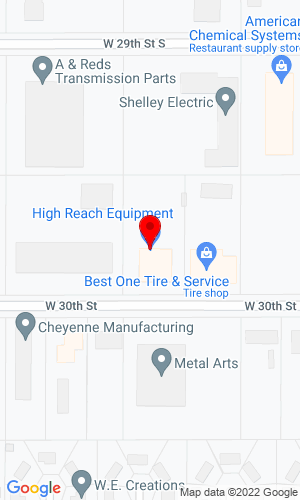 Google Map of High Reach Equipment LLC 3624 West 30th ST S, Wichita, KS, 67217