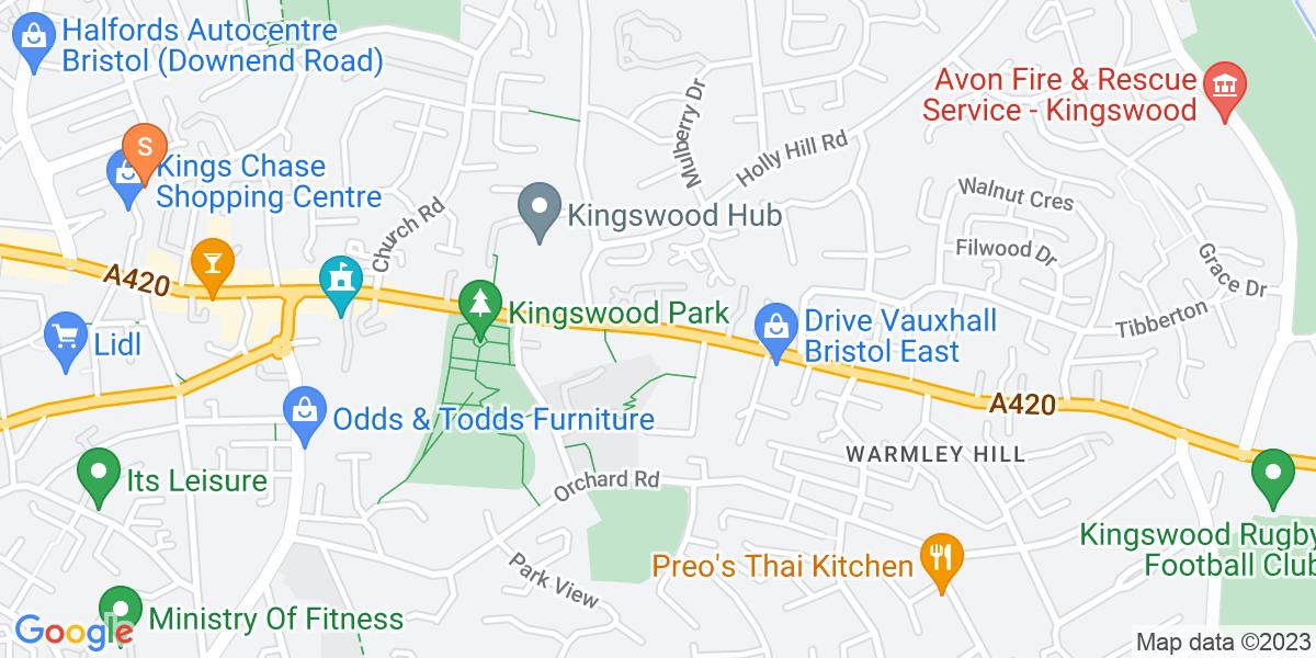 Google Map of High StreetKingswood Bristol BS15 4AR