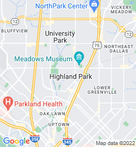 Highland Park TX Map