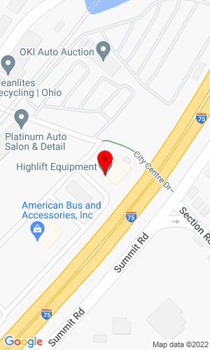 Google Map of Highlift Equipment LLC 125 Citycentre Drive, Suite 101, Cincinnati, OH,