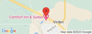 Google Map of Highway+%23+1+West%2CVirden%2CManitoba+R0M+2C0