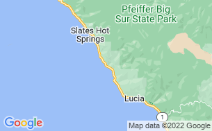 Map of Big Sur Campground and Cabins