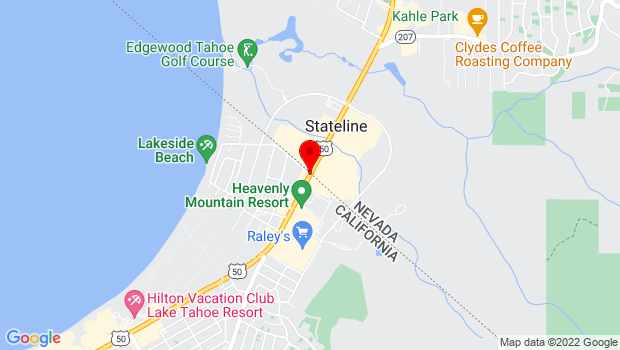 Google Map of Highway 50 and Stateline Ave, Stateline, NV 89449