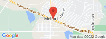 Google Map of Highway+6+South%2CMelfort%2CSaskatchewan+S0E+1A0