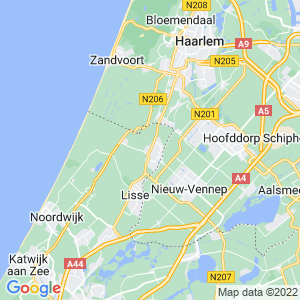 Werkgebied van onze bestrijder in Hillegom