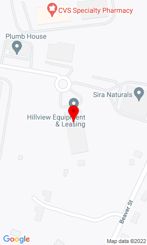 Google Map of Hillview Equipment 11 Commercial Way, Milford, MA, 01757