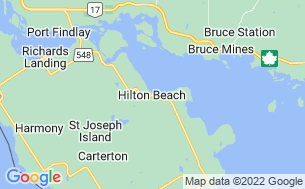 Map of Hilton Beach Tourist Park