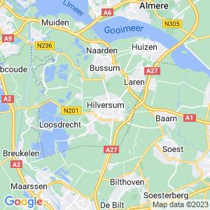 Werkgebied van onze bestrijder in Hilversum
