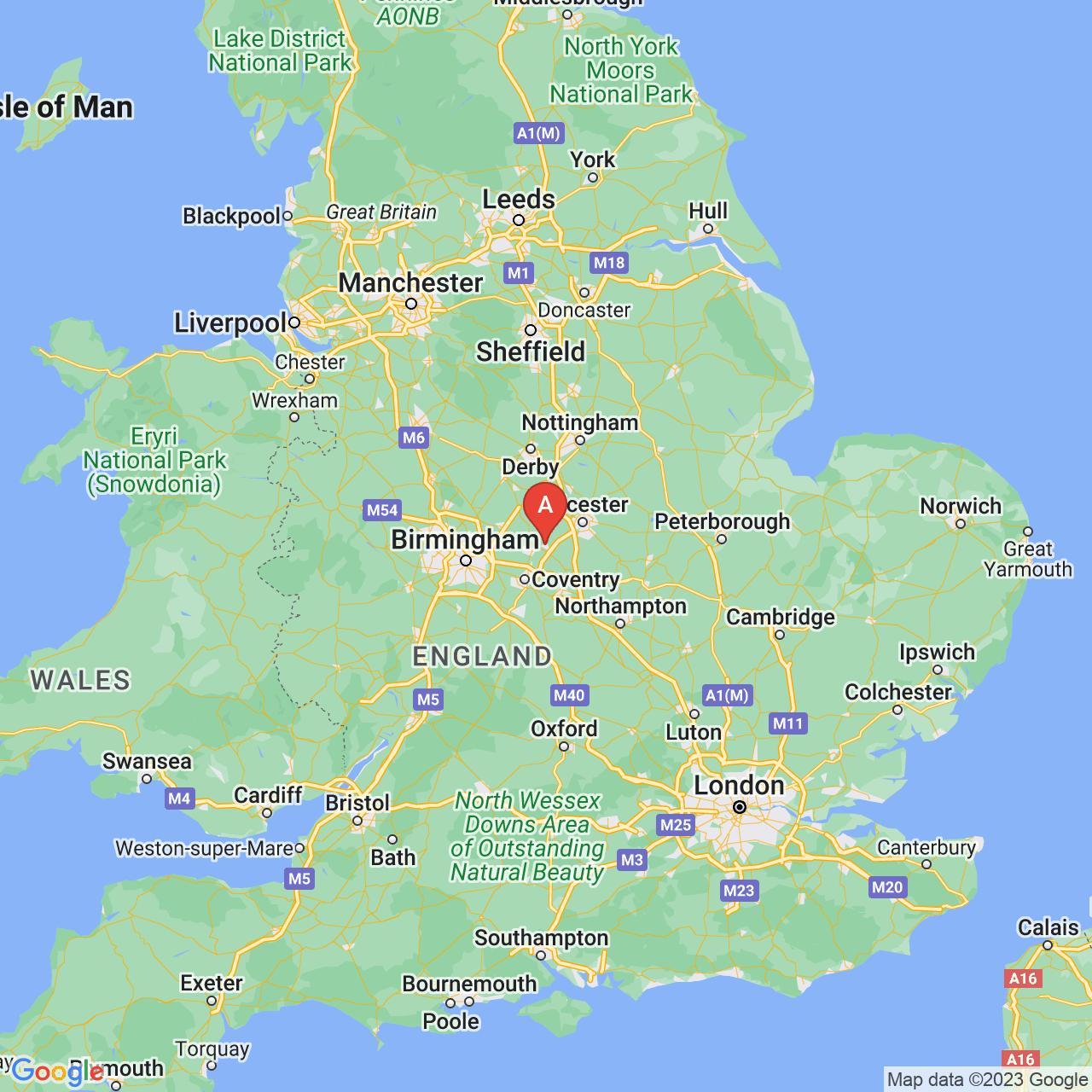 Hinckley, England Map
