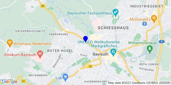 Google Map of Hindenburgstraße 49, Bayreuth, Deutschland