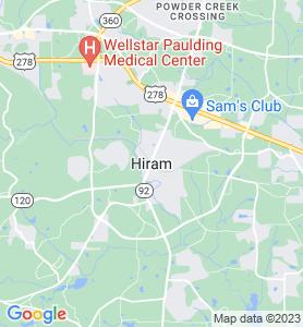Hiram GA Map