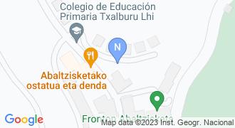Abaltzisketako udaletxea mapa
