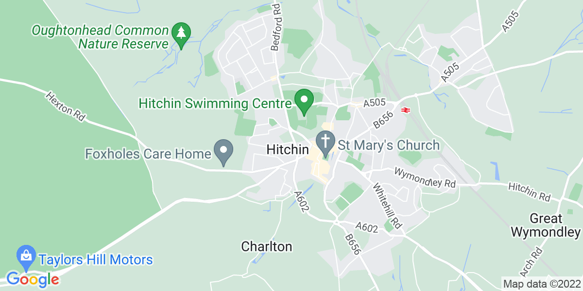 Map: Support Worker job role in Hitchin