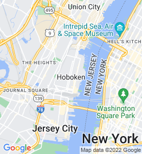 Hoboken NJ Map