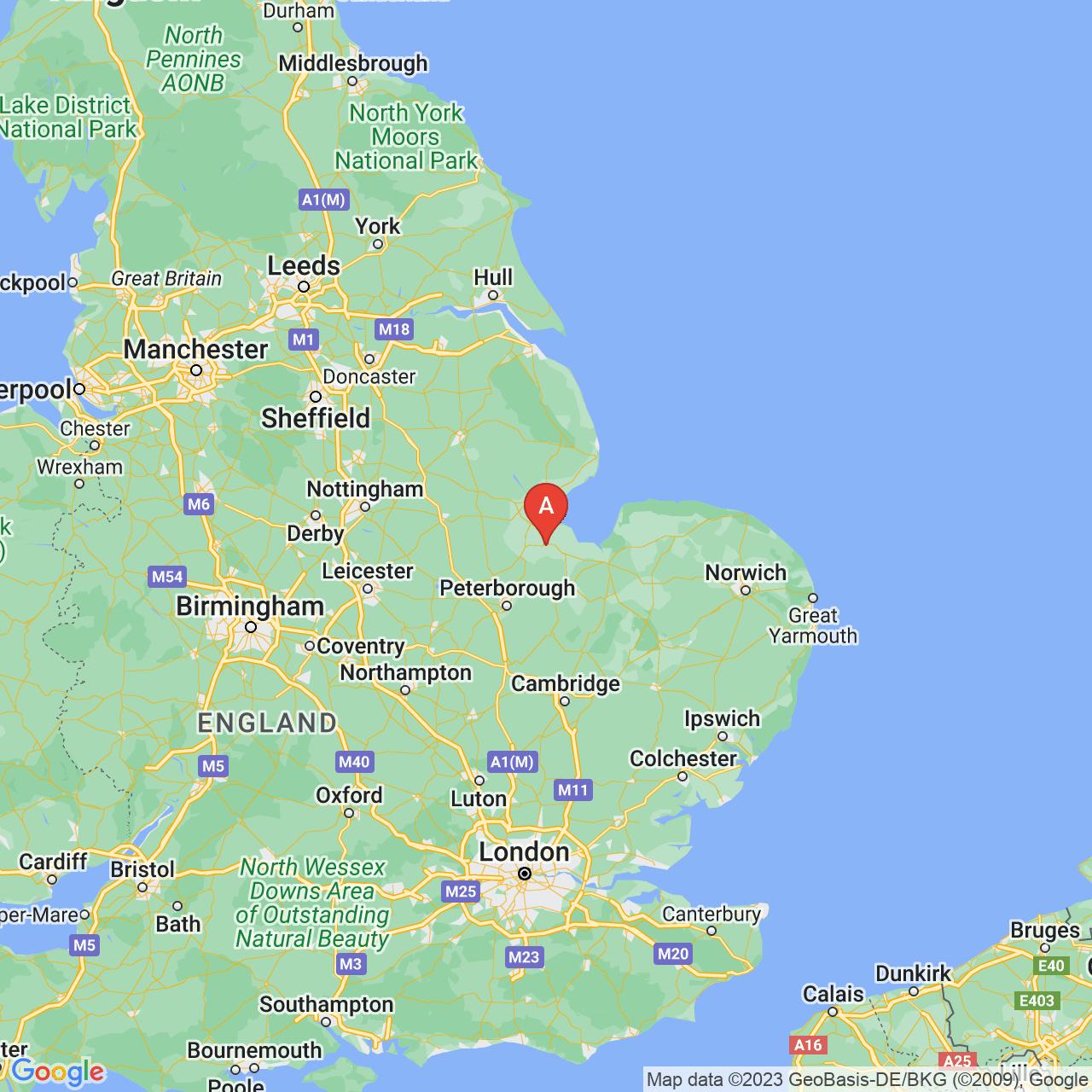 Holbeach, England Map