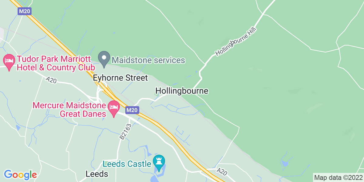 Map: Trainee Restaurant Manager job role in Hollingbourne