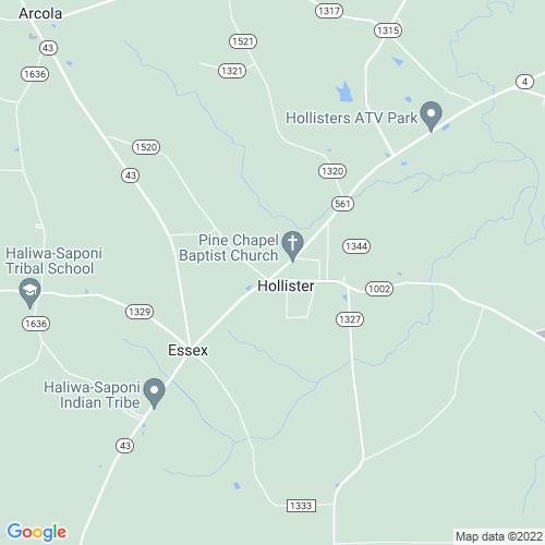 Map of Hollister, NC