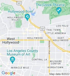 Hollywood CA Map
