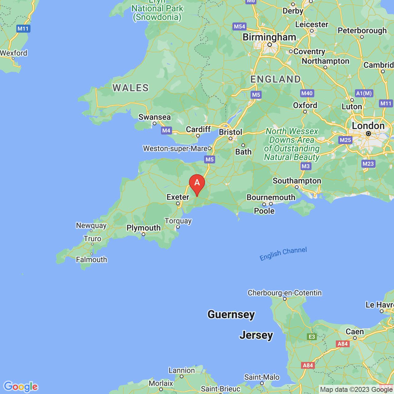 Honiton, England Map