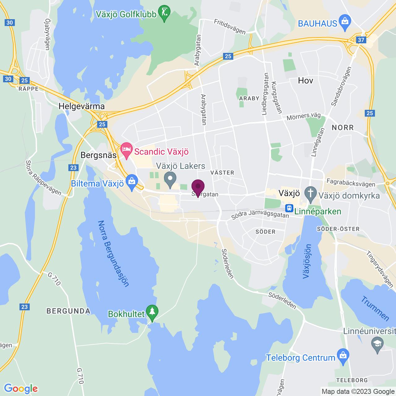 Kort över Honnörsg 2-7