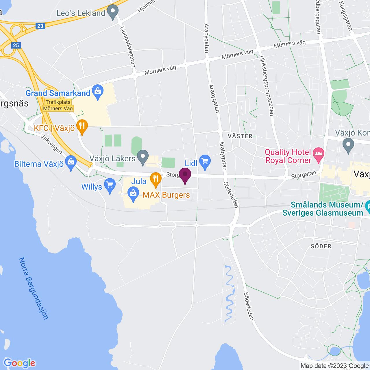 Karta över Honnörsgatan 14