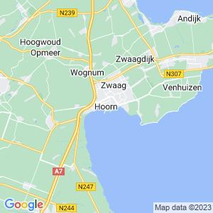 Werkgebied van onze bestrijder in Hoorn