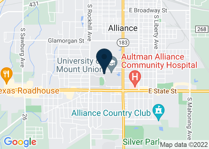 Map of Hoover Price Campus Center, Alliance, OH, United States