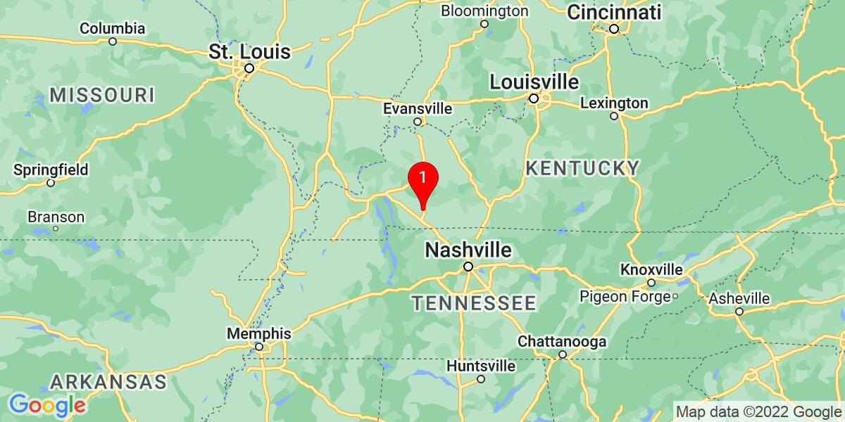 Google Map of Hopkinsville, KY