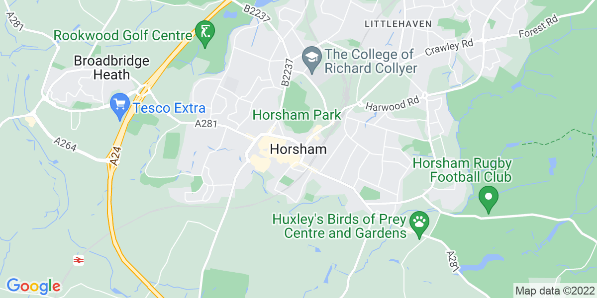 Map: GIS Technician job role in Horsham