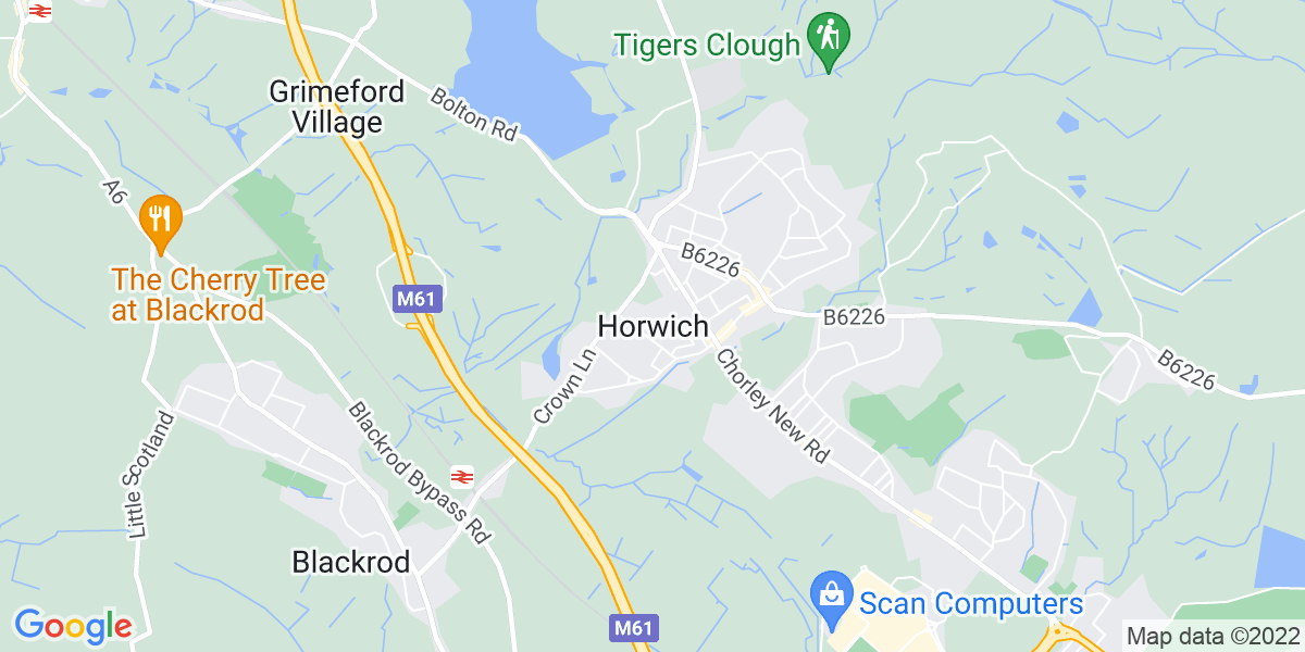 Map: Cleaner   job role in Horwich