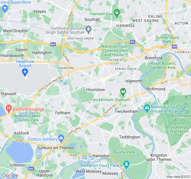 Website Designer Hounslow Google map of location