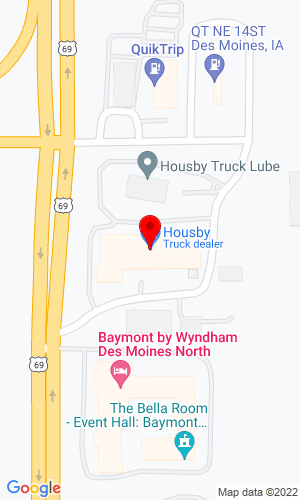 Google Map of Housby Heavy Equipment 4747 NE 14th Street, Des Moines, IA, 50313