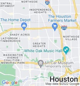 Houston Heights TX Map